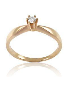 Золотое кольцо с бриллиантом «Госпожа Луиза»