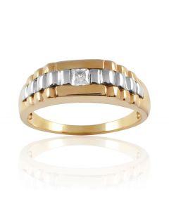 Золотий перстень з куб.цирконом «Пріам»