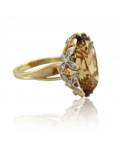 """Золотое кольцо с раухтопазом """"Posh"""""""