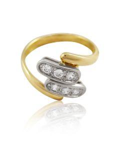 """Золотое кольцо с цирконами """"Неожиданность"""""""