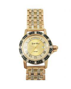 Золотые часы с цирконами «Элегант»