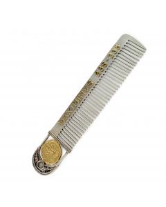 Расческа серебряная  «Римская монета»