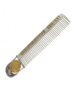 Гребінець зі срібла «Римська монета» з позолотою
