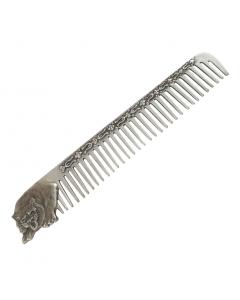 Расческа из серебра «Тигр»