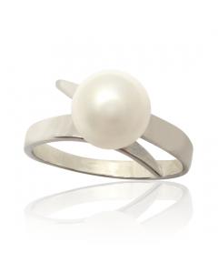Золоте кільце з перлами «Люба моя Еллі»