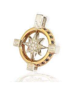 Золотой кулон мужской с бриллиантами