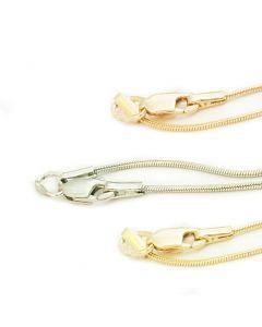 Золотая цепочка «Снейк классический» тонкий