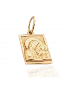 Золотой кулон-ладанка «Пресвятая Богородица»
