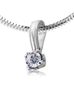 Классический золотой кулончик с бриллиантом 0.24 ct «Королевна»