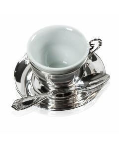 Персональний срібний кавовий набір «Свіжий аромат»