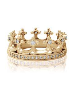 Золотое кольцо корона цена