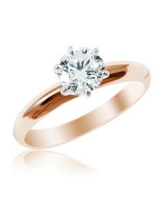 Кольцо с бриллиантом 0.5 ct «Век любви бесконечен»