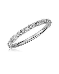 Обручальное кольцо дорожка с бриллиантами «Caroline»