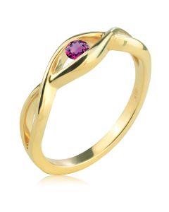 Кольцо для помолвки с турмалином «Зеркало души»