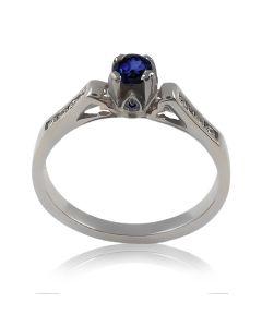 """Жіноче кольцо з сапфіром і діамантами """"Simona»"""