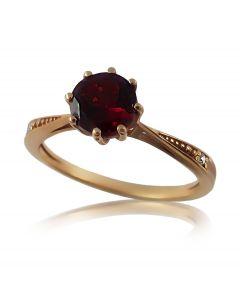 Золотое кольцо с гранатом и бриллиантами «Жозефина»