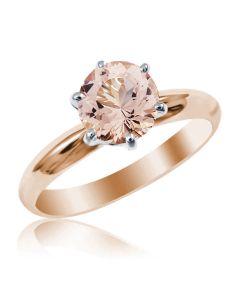 Женское кольцо с морганитом «Век любви бесконечен»
