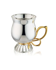 Кружка с позолотой из серебра «Latte»
