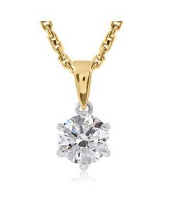 Жіночий кулон з діамантом 0.9 карат «Вік кохання безкінечний»