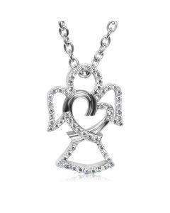 Золотой женский кулон с бриллиантами «Бриллиантовый Ангелочек»