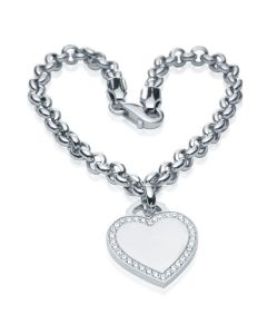Жіночий браслет з підвіскою-сердечком «Кохана»