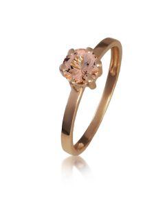Золоте кольцое з морганітом «Мальді»