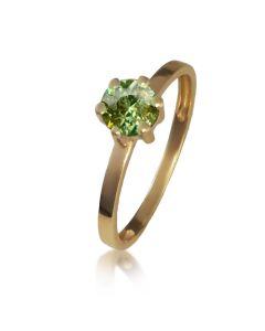 Золотое кольцо с султанитом «Мальди»