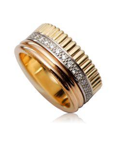 Широка обручка з діамантами «Ла Бушерон»