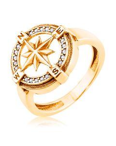 Чоловіча золота печатка «Компас Удачі»