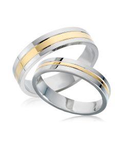 Золоті парні обручки без каменів «Real love»