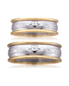 Парные обручальные кольца без камней «Кладдахское»