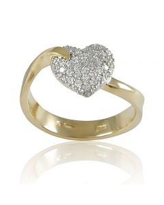 """Золотое кольцо """"Драгоценная любовь"""""""