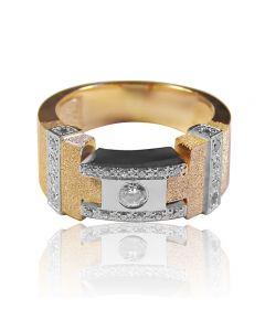 """Золотое кольцо с бриллиантом """"Phantom"""""""