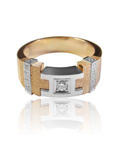"""Золотое кольцо с бриллиантами """"Phantom"""""""