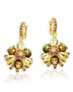 Золотые серьги с жемчугом и рубином «Санта-Мария дель Мараколи»