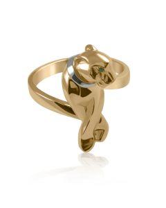 Ексклюзивне золоте кольцо «Пантера»