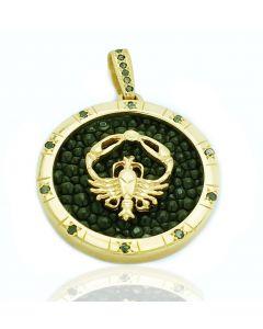 Підвіска з чорним діамантом «Золотий Рак»