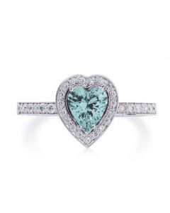 Помолвочное кольцо с бриллиантами и топазом «Топазовое сердце»