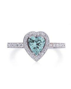 Заручальне кольцо з діамантами і топазом «Топазове серце»