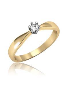 """Золотое кольцо с бриллиантом """"Янита"""""""