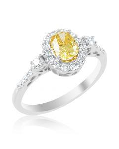 Кольцо с бриллиантовой россыпью