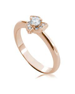 Каблучка заручальна з діамантом «Трилисник»