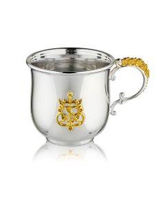 Серебряная кружка «Процветший крест» с позолотой