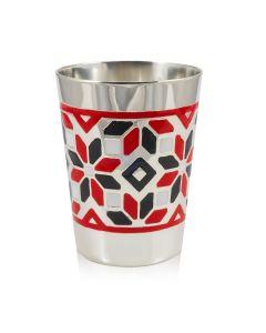 Серебряная стопка с цветной эмалью «Мозаика»