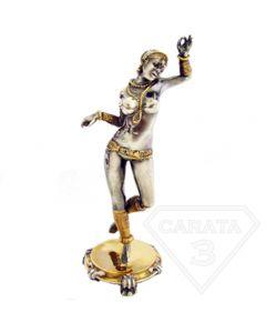 """Серебряная статуэтка с позолотой """"Стриптизёрша"""""""