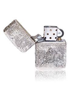 Серебряная зажигалка «Вепрь»
