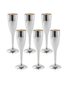 Набор из шести серебряных бокалов для шампанского «Sauvignon»