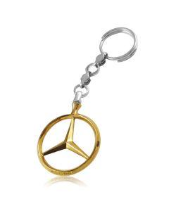 Срібний брелок з позолотою «Mercedes»