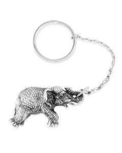 Срібний брелок «Слон»