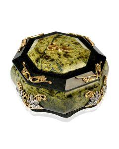 Шкатулка серебряная из камня «Баронесса»